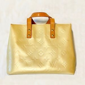 Louis Vuitton Reade PM Tote Beige Gold Vernis